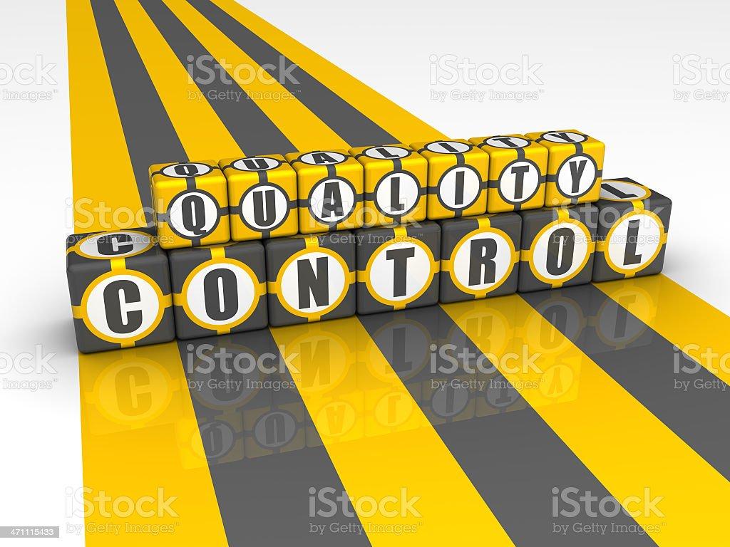 Buzzword Quality Control royalty-free stock photo
