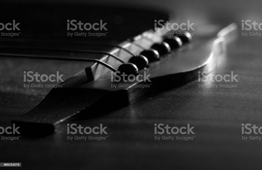 b&w guitar royalty-free stock photo