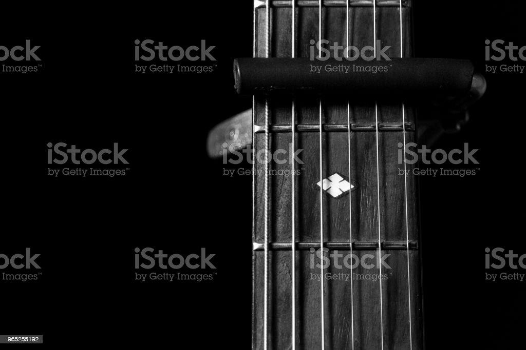 b&w guitar zbiór zdjęć royalty-free
