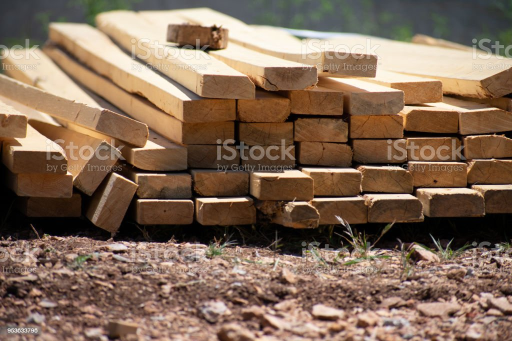 2 by 4 stack stock photo