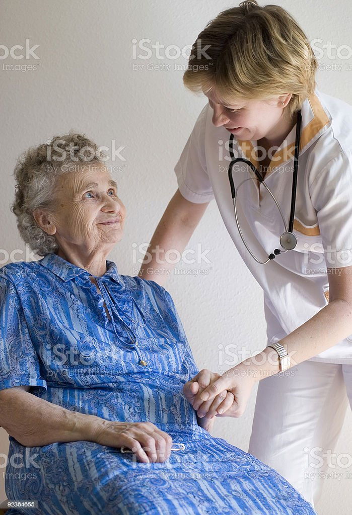 by a doctor royalty-free stock photo