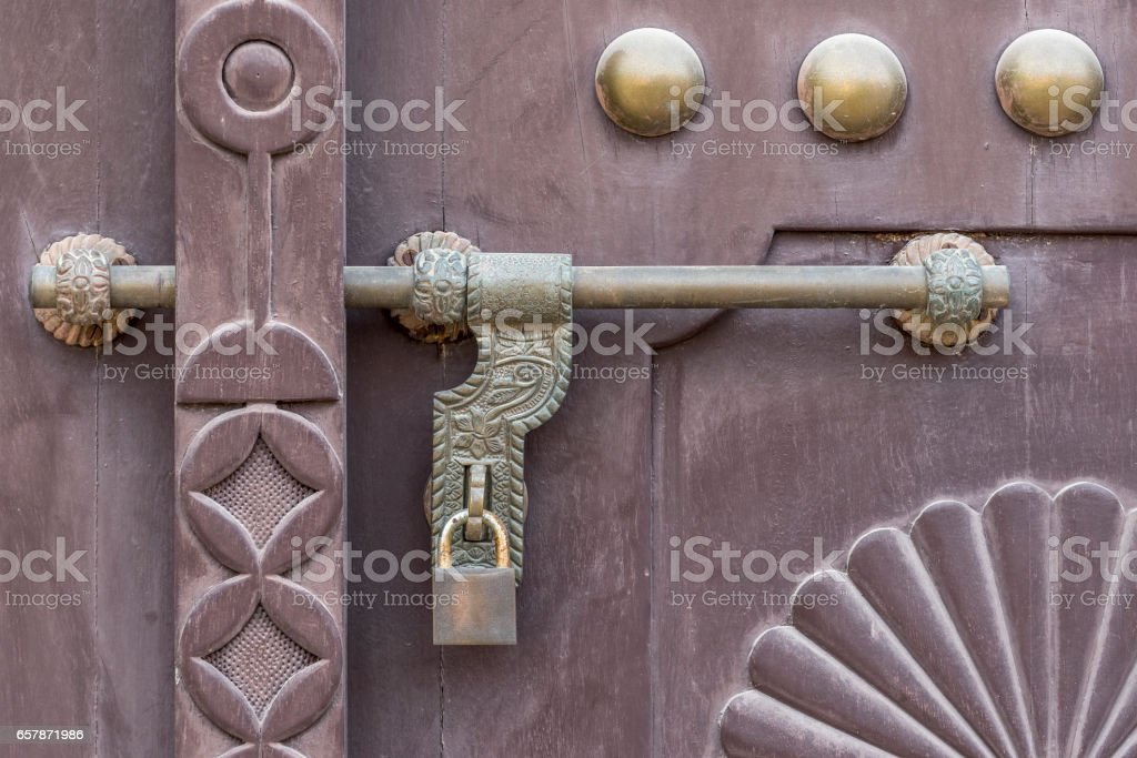 Door bolt stock photo