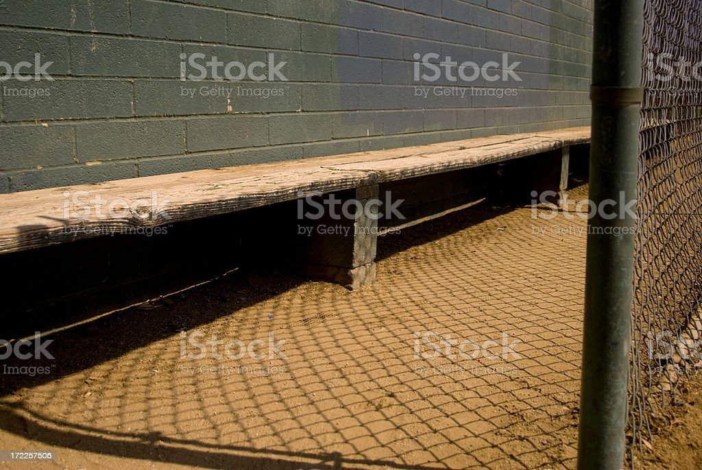By the dugout royalty-free stock photo