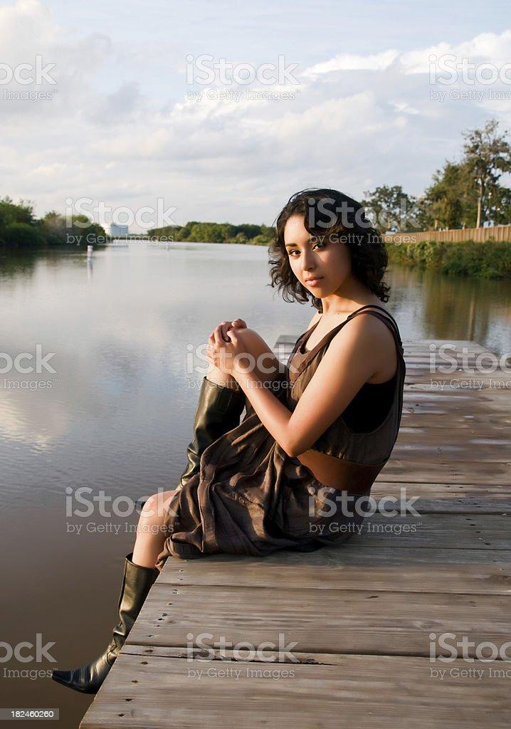 By o lago foto royalty-free