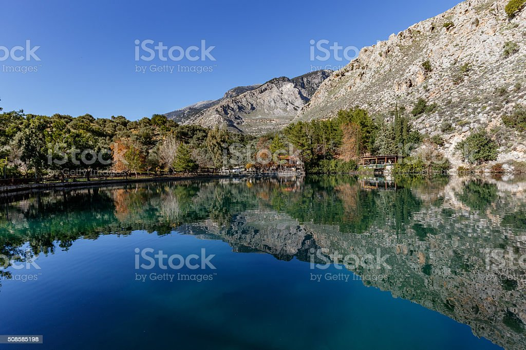 by the lake. stock photo