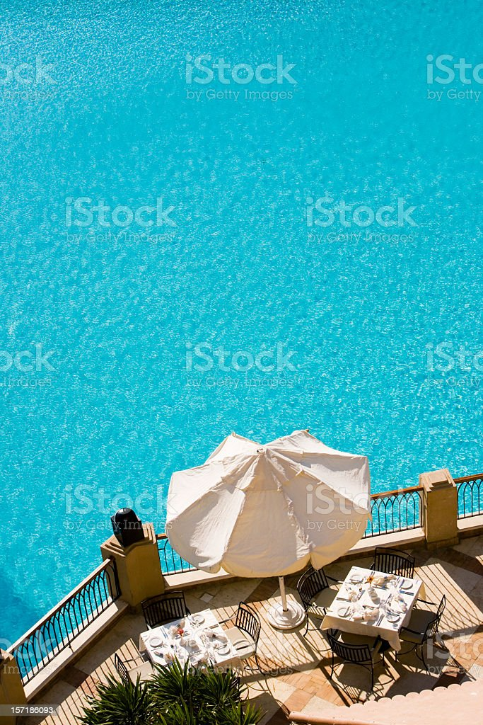 by the pool royalty-free stock photo