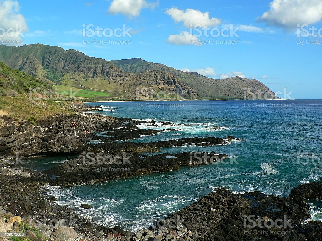 By the sea - Hawaii - West Coast Oahu royalty-free stock photo