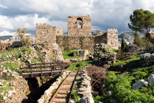 Byblos archeological site, Lebanon stock photo