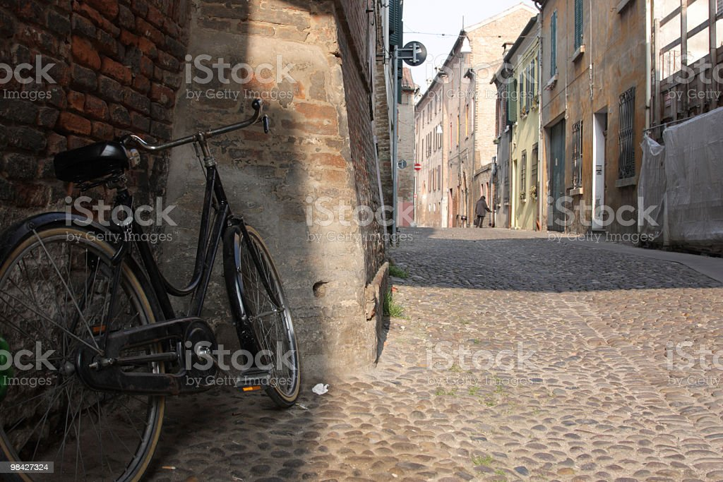Bycicle in Ferrara royalty-free stock photo