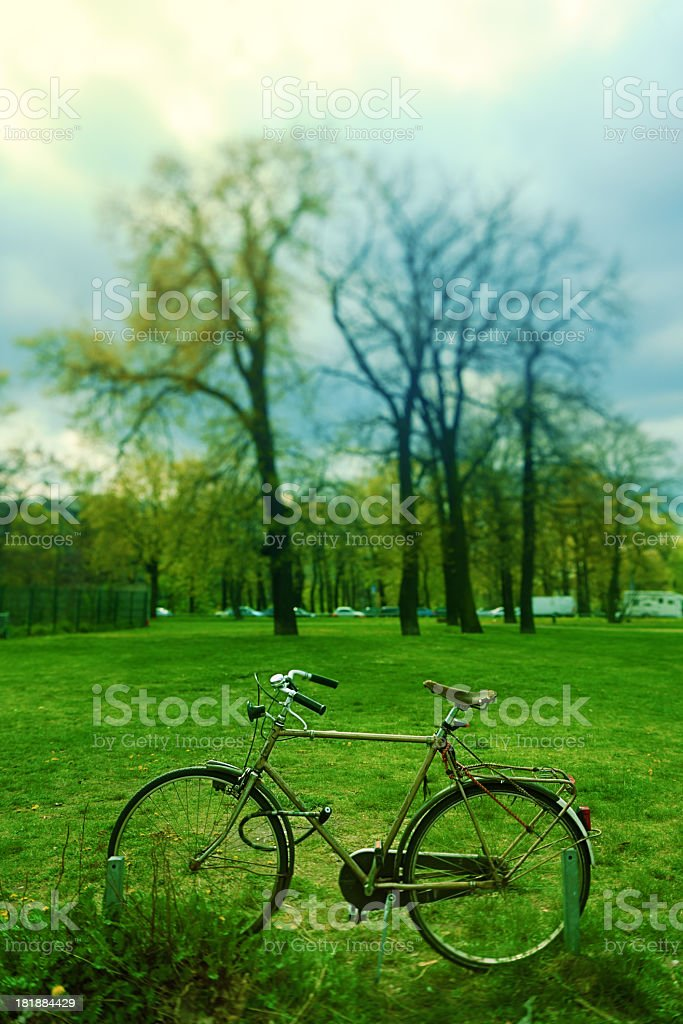 Bycicle in park royalty-free stock photo