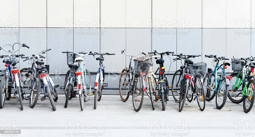 Bycicles stock photo