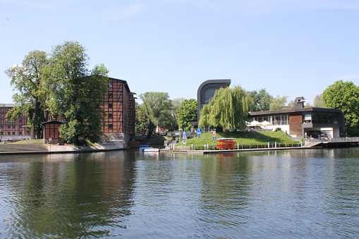 Bydgoszcz view of the city from different banks of the Byrda river