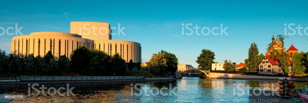 Bydgoszcz St. Martin ve St. Nicholas Katedrali ve değirmen Adası - Royalty-free Ada Stok görsel