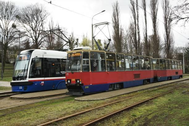 Bydgoszcz Trams stock photo