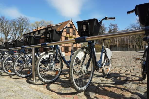 Bydgoszcz - Transport - bike station stock photo