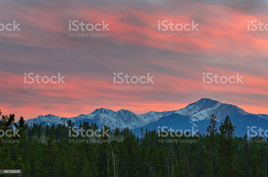 Byers Peak Landscape stock photo