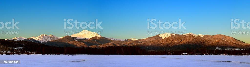 Byers Peak Panoramic stock photo
