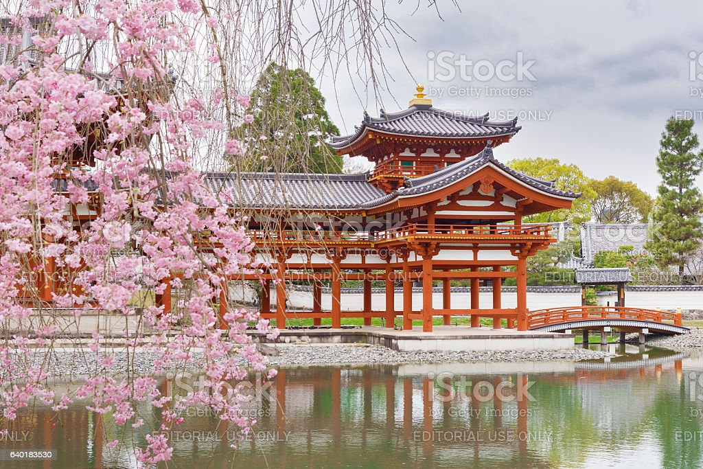 Byodo-in Buddhist temple in Uji, Kyoto, bildbanksfoto