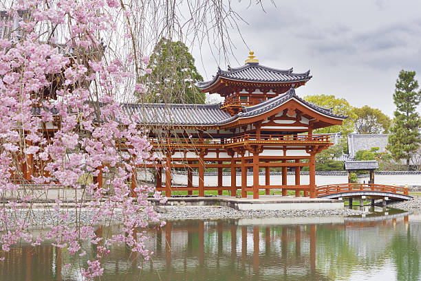 byodo-in buddhist temple in uji, kyoto, - japan stock photos and pictures