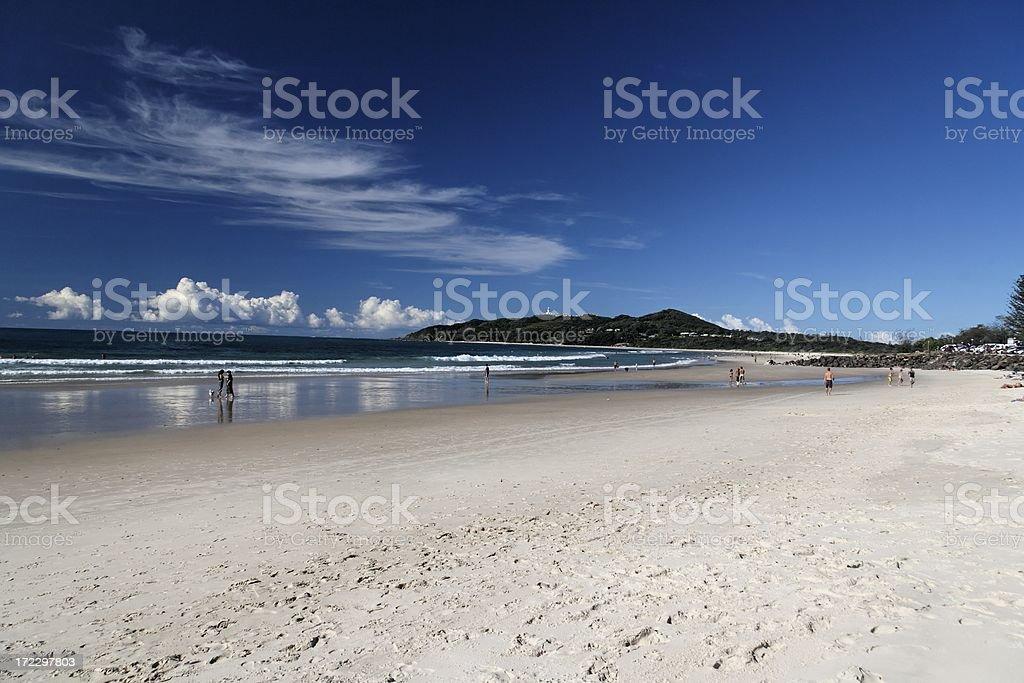 Byron Bay beach royalty-free stock photo