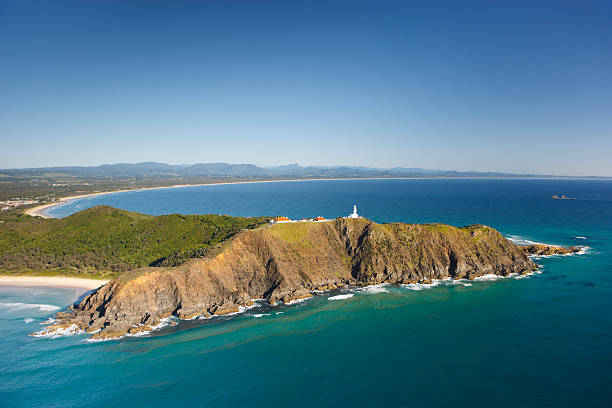 byron bay headland - headland stock pictures, royalty-free photos & images