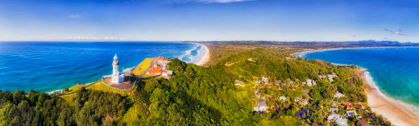 D Byron Bay Lighthouse Close TOp pan