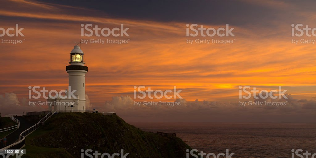 Byron Bay Lighthouse stock photo