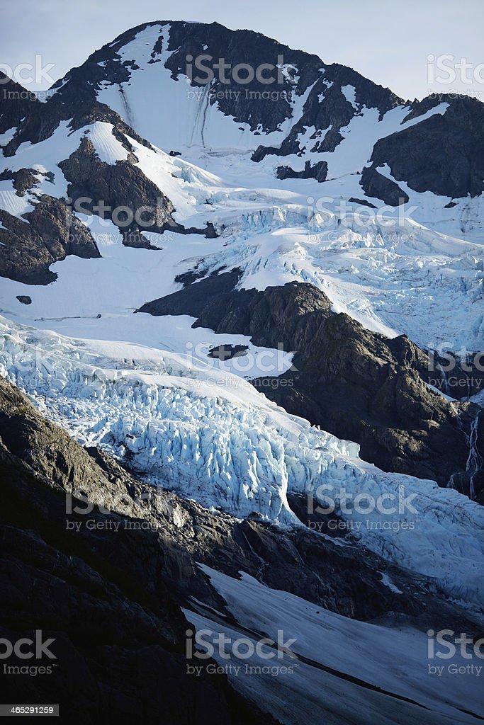 Byron Glacier at Sunset - Portage Valley, Alaska stock photo