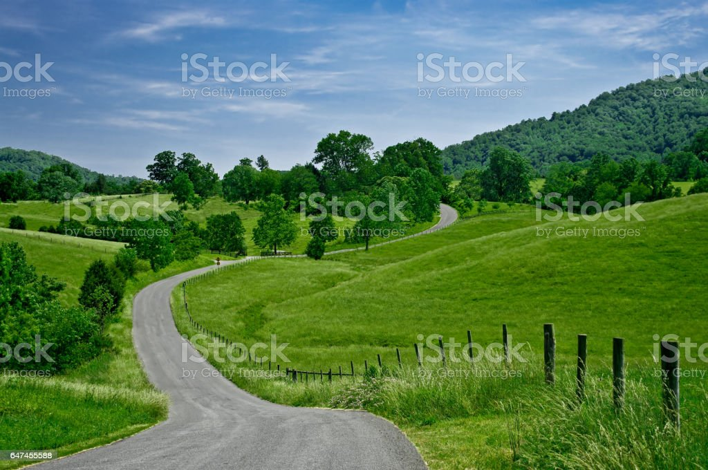Byway stock photo