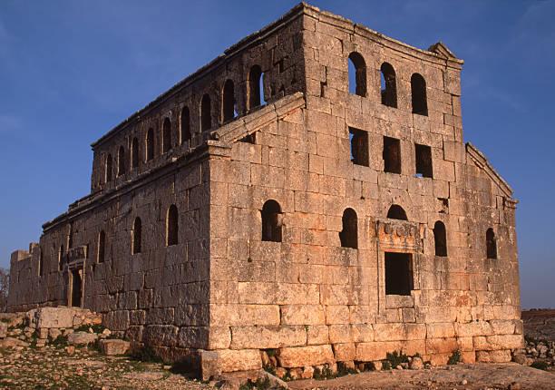 Byzantine church Syria stock photo