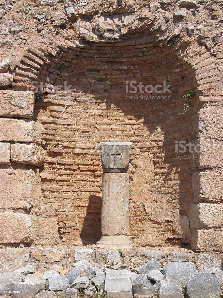 Byzantine Cross royalty-free stock photo