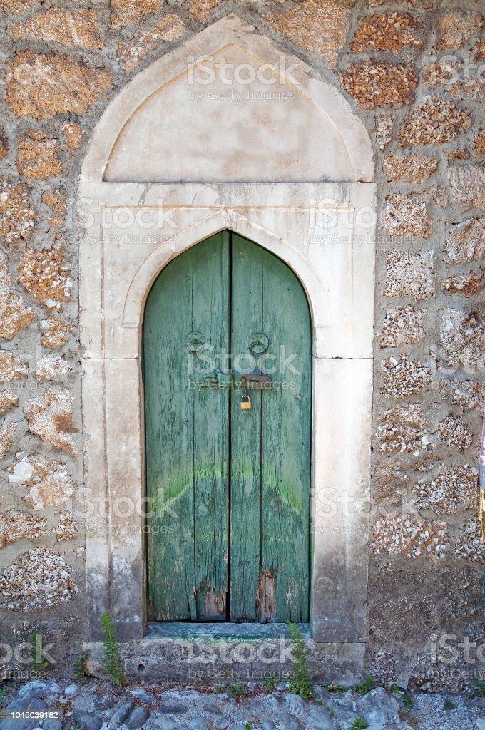 Byzantine door. stock photo