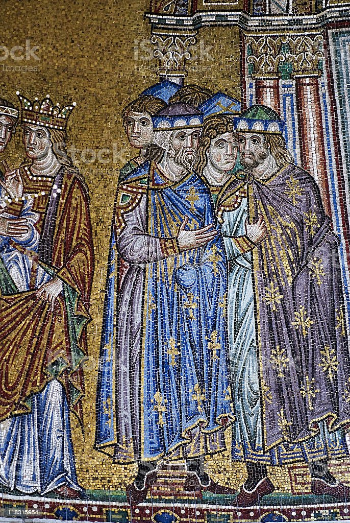 Byzantine mosaic in St Mark's Basilica, Venice royalty-free stock photo