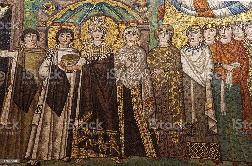 Byzantine mosaic.Ravenna,Italy. stock photo