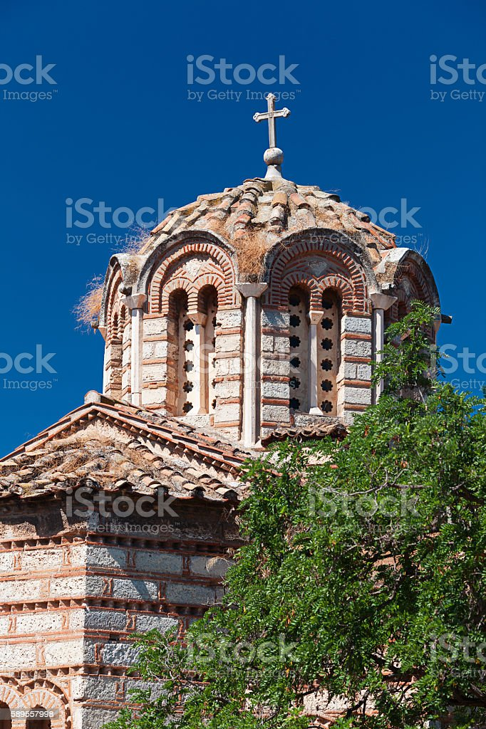 Byzantine ortodox church dedicated to the Holy Apostles, the Anc stock photo