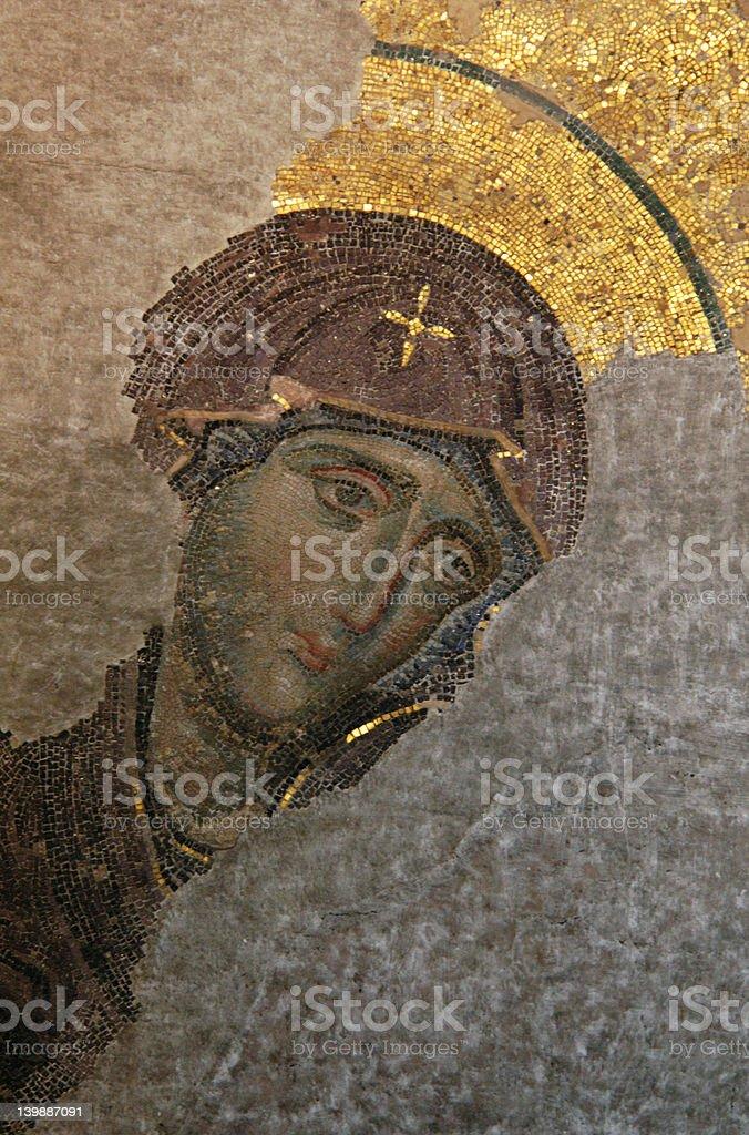 Byzantine Virgin stock photo