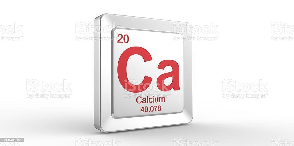 Ca symbol 20 material for Calcium chemical element stock photo