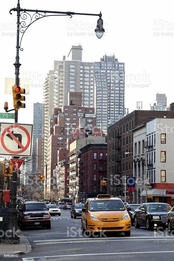 Cab en Nueva York foto de stock libre de derechos