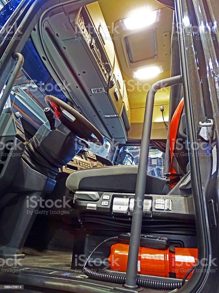 Cab of a truck stock photo