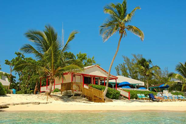 cabana on the beach - nassau new providence stockfoto's en -beelden