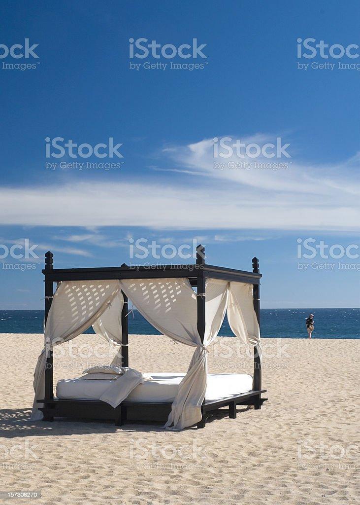 Cabana on the Beach royalty-free stock photo