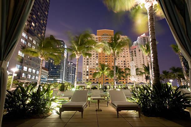 Cabana View Miami Four Seasons Hotel stock photo