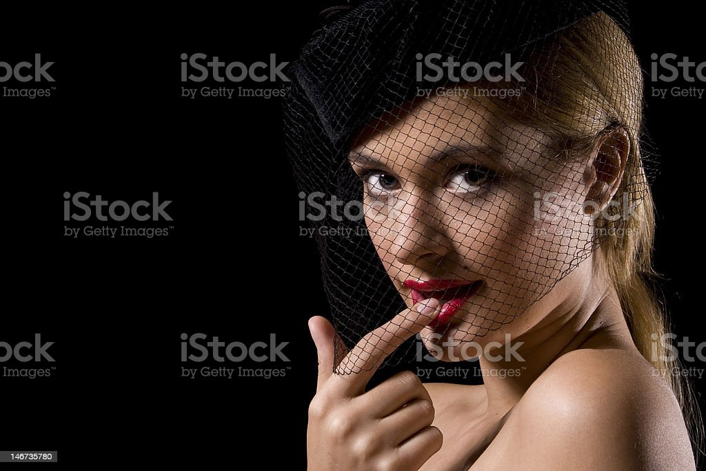 Cabaret girl stock photo