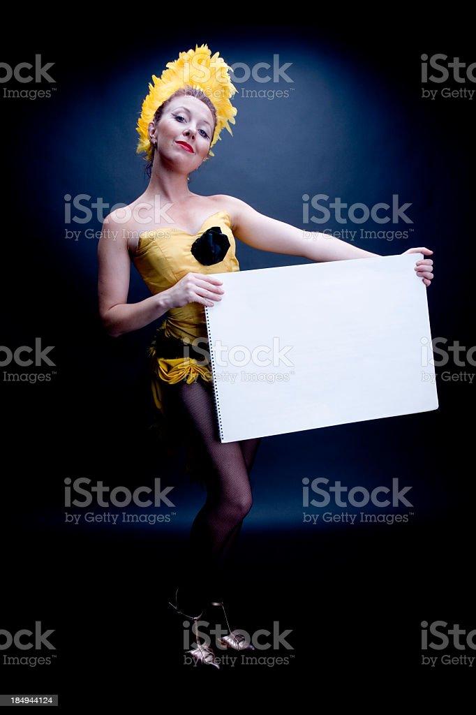 Cabaret Messenger royalty-free stock photo