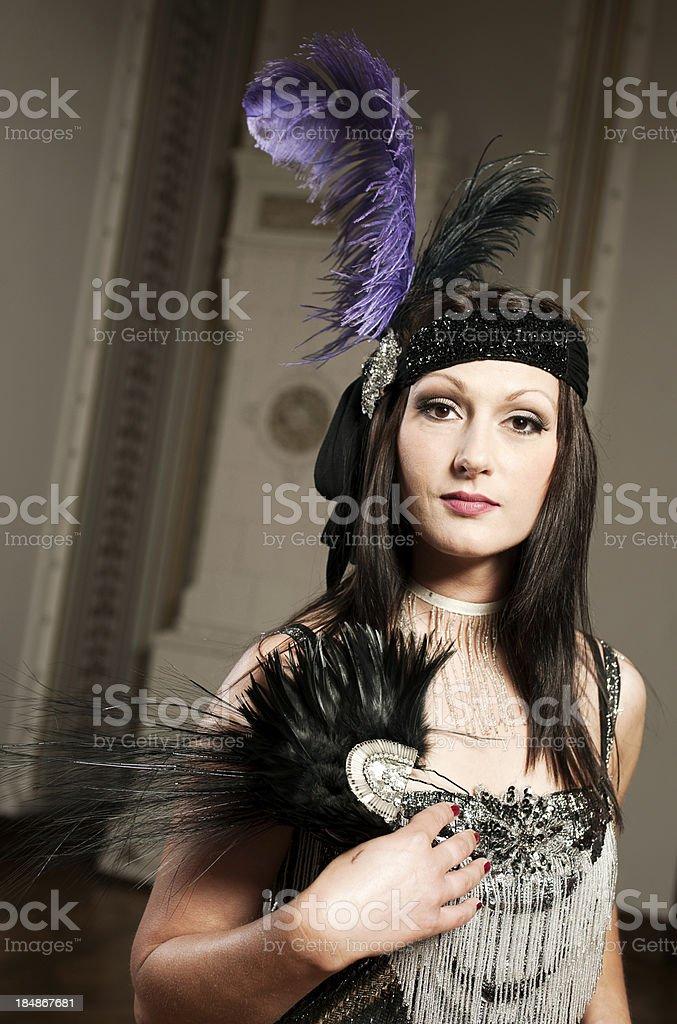 Cabaret woman royalty-free stock photo
