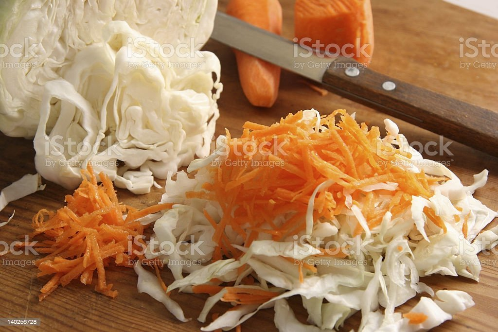 Cabbage and carrots. royalty-free stock photo