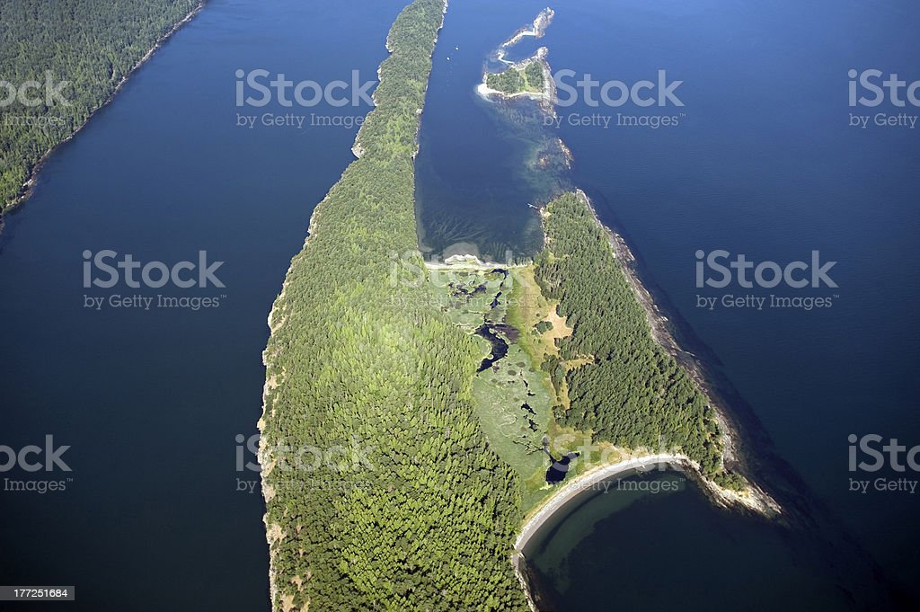 Cabbage and Tumbo Island, Canada stock photo