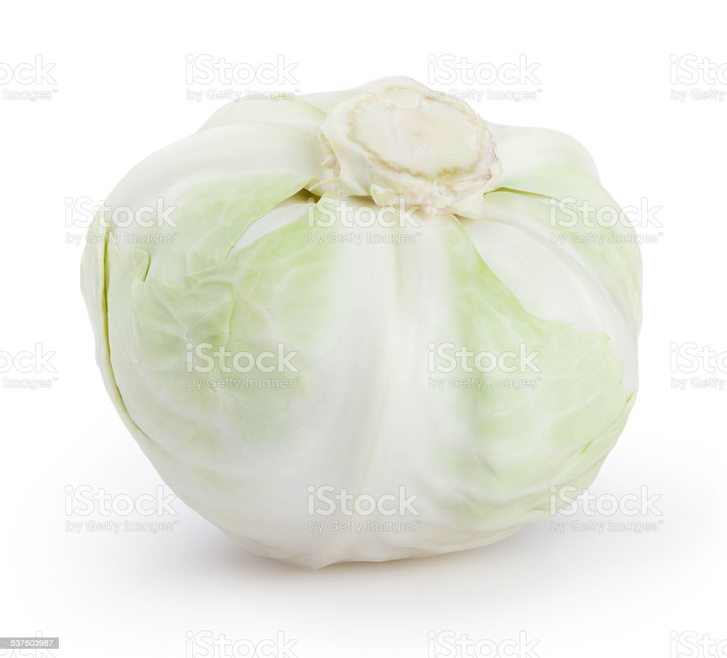 Cabbage isolated on white background with clipping path stock photo