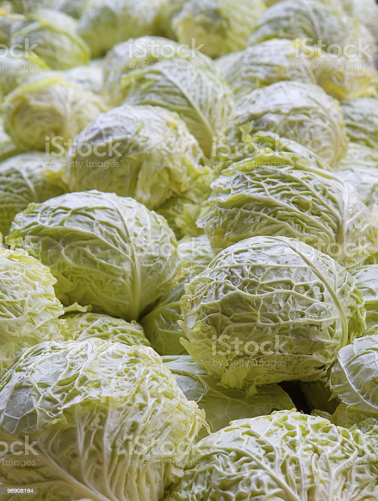 Cabbage Pile vertical royalty-free stock photo