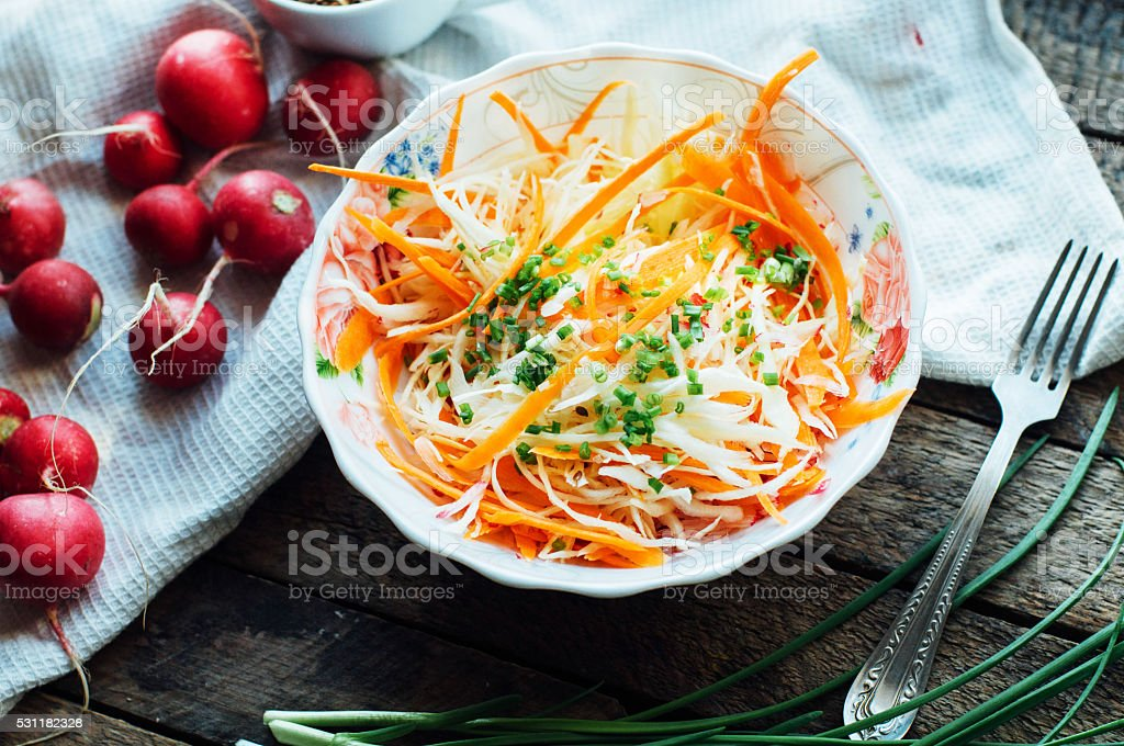 Cabbage salad stock photo